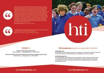 Download more information on HTI Multi Academy Trust