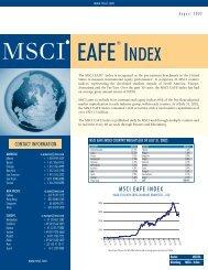 MSCI EAFE Index Brochure - CBOE.com
