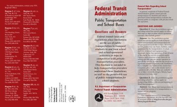 School bus questions and answers - Federal Transit Administration