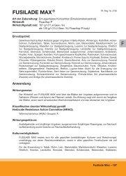 F FUSILADE MAX ® - Syngenta