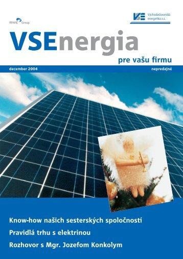December 2004 - Východoslovenská energetika as