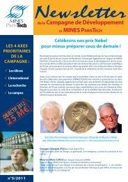 Newsletters n°5.indd - Mines ParisTech
