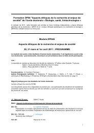 2011 - Plateforme societal - Génopole Toulouse Midi-Pyrénées