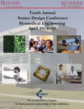 Tenth Annual Senior Design Conference Biomedical Engineering ...