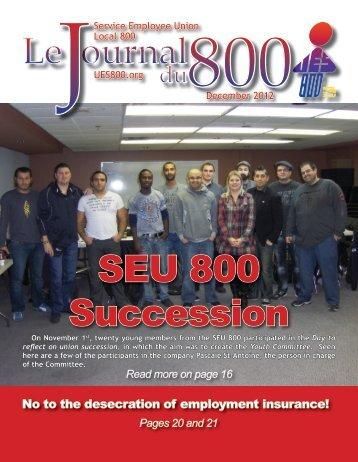 December 2012 - Union des employés et employées de service ...