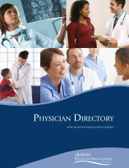 St. Anthony's Physician Organization Directory