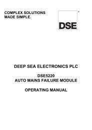 DEEP SEA ELECTRONICS PLC