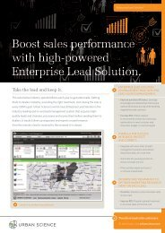 Boost sales performance with high-powered ... - Urban Science