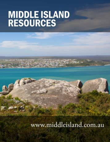 MIDDLE ISLAND RESOURCES - The International Resource Journal