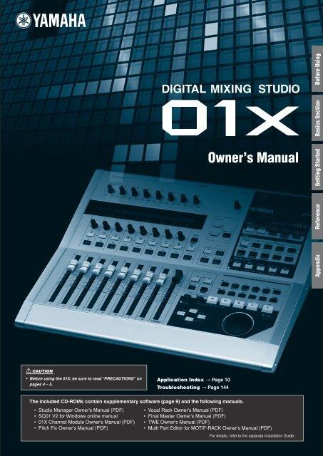01X Owner's Manual - Yamaha