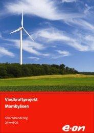 Vindkraftprojekt Mombyåsen - E-on