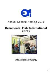 Annual General Meeting 2011 Ornamental Fish International (OFI)