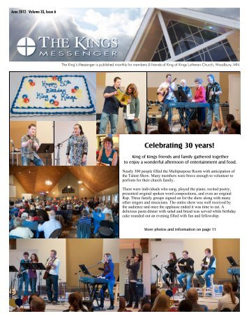 June 2012 newsletter - King of Kings Lutheran Church