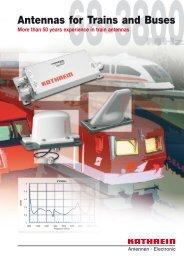Druckschrift 99811460, Antennas for Trains and Buses - Kathrein