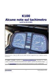 Nota tecnica tachimetro contachilometri (by K8) - K100.biz