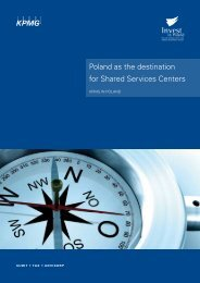 Poland as the destination for Shared Services Centers