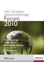 forum report 07 - Hitachi Science & Technology Forum