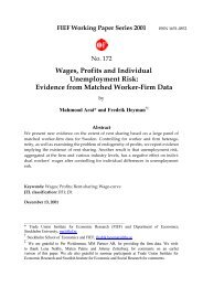 Wages, Profits and Individual Unemployment Risk ... - S-WoPEc