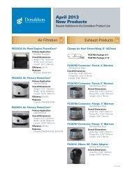April 2013 New Products - Donaldson Company, Inc.