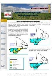 A la date du 10 octobre 2012, le cumul des pluies recueillies reste ...