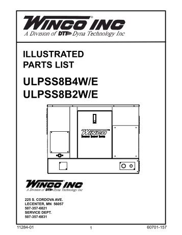 illustrated parts list with Illustrated Parts Lists Ac And Dc Generator Winco Generators on Mopar performance dodge truck magnum interior further Partner S50 F55 R20 P85 P100 R30 Chainsaw Bar Nut Set together with steeringcolumnservices also T24939937 Drawn illustration drive belt murray besides Rv Awning Repair.