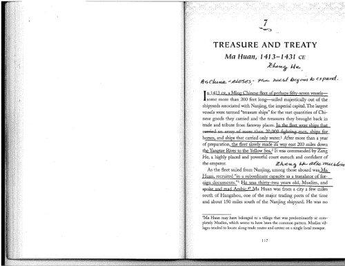 TREASURE AND TREATY Ma Huan, 1413-1431 CE - Cary Academy