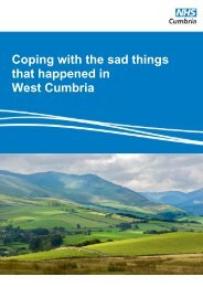 Coping with the sad things that happened in West Cumbria