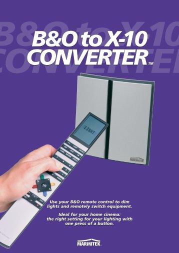 IR455 B&O to X-10 converter