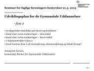 Ministeriet for Børn og Undervisning - undervisningsplan 2013