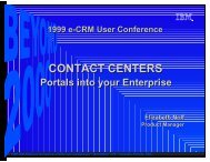 Freelance Graphics - Contact Centers - Portals to the Enterpri