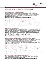 Empfehlungen zum Thema Jugendmedienschutz - iMedia