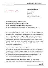 Die Dürer-Aktivitäten des Kulturreferats im