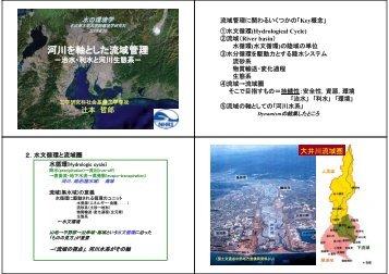 河川を軸とした流域管理 - NHRI 名古屋流域圏水理研究院