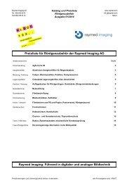 Preisliste für Röntgenzubehör der Raymed Imaging AG Raymed ...