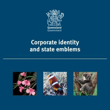 Corporate identity and state emblems - Department of the Premier ...