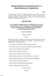 Pravilnik o uvjetima i mjerilima za utvrđivanje sustava kvalitete ...