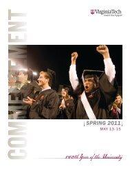 Spring 2011 Commencement Brochure - Virginia Tech
