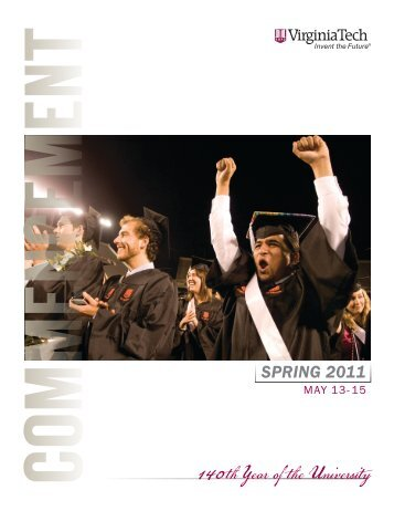 Spring 2011 Commencement Brochure - Virginia Tech