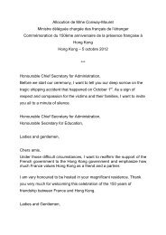 Hong-Kong Speech in English - Consulat général de France à Hong ...