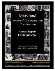 Annual Report FY2003 - Maryland Workers' Compensation ...