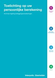 Folder uitleg berekening vergoedingen - Interpolis ...