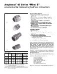 Amphenol 67 and 165 Series Miniaturized Standard Connectors - Page 3