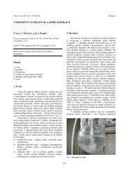 VĞKONOVĞ ULTRAZVUK A JEHO APLIKACE - Chemické listy