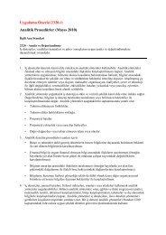Uygulama Önerisi 2320-1: Analitik Prosedürler (Mayıs 2010) - TİDE
