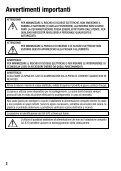 Avvertimenti importanti - Page 2