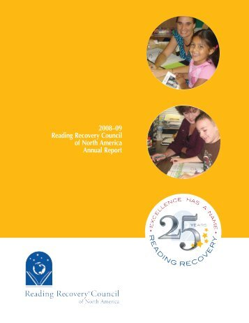2008–09 Reading Recovery Council of North America Annual Report