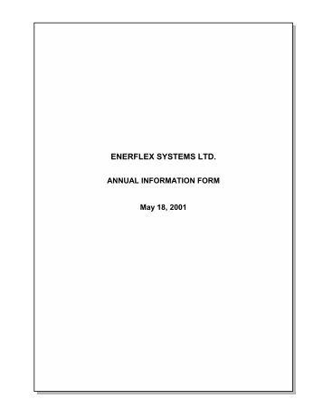 ENERFLEX SYSTEMS LTD.