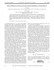 Effect of Differences in Proton and Neutron Density Distributions on ...