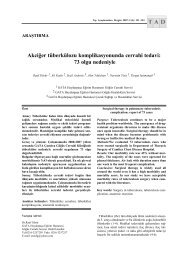 Akciğer tüberkülozu komplikasyonunda cerrahi tedavi - Tıp ...