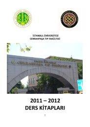 Ders Kitapları - İ.Ü. Cerrahpaşa Tıp Fakültesi